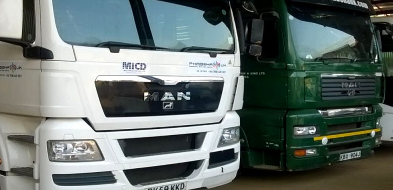 Fleet of Prime Movers used for Transporting Materials to Project Sites
