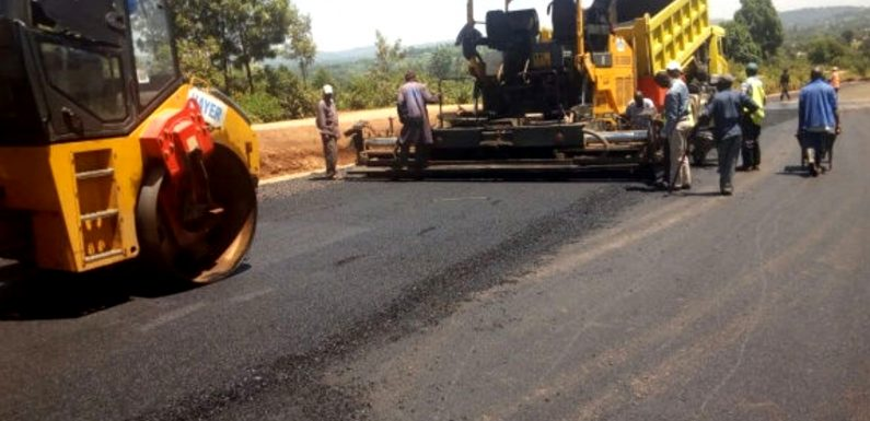 Asphalt Paver in Operation at a Project Site